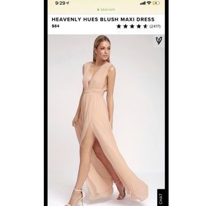 Lulus elegant blush dress